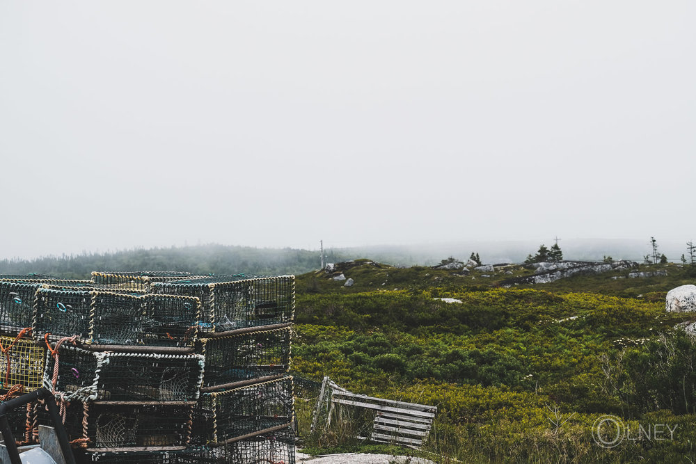 lobster traps in peggy's cove nova scotia