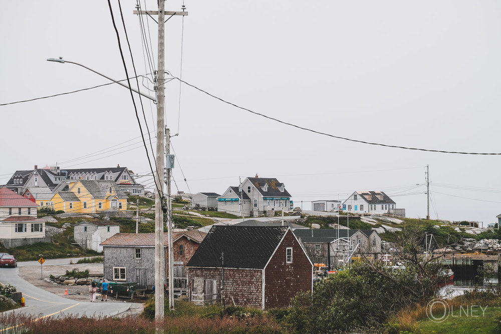 general view of peggy's cove nova scotia