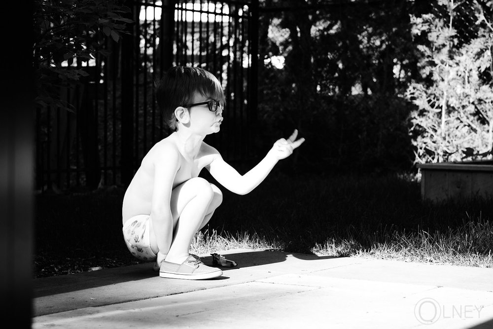 kid playing alone