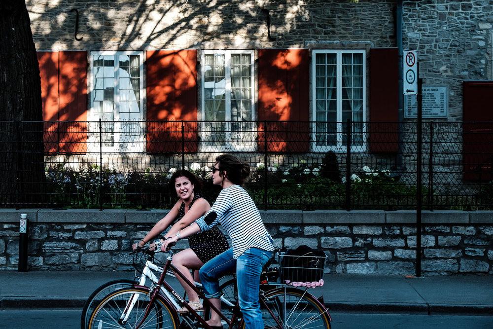 Cycling in Old Montreal