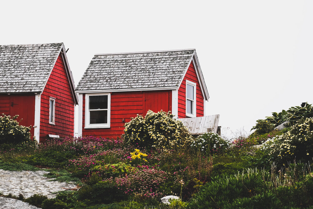 red shed in peggy's cove nova scotia