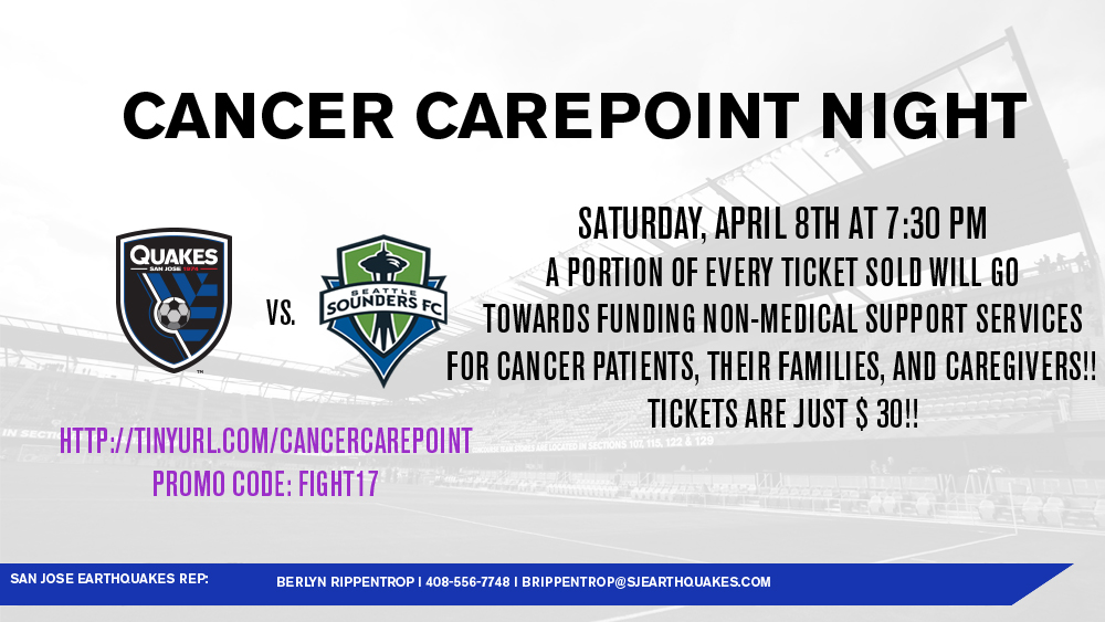 Join us at the Earthquakes Game on Sat., April 8. Click the image for info & to purchase tickets!