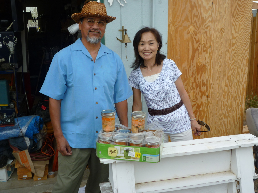 Japanese guest visiting a friend on the Warm Springs Indian reservation.