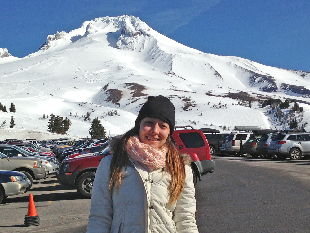 Colombian student visiting Mt. Hood.
