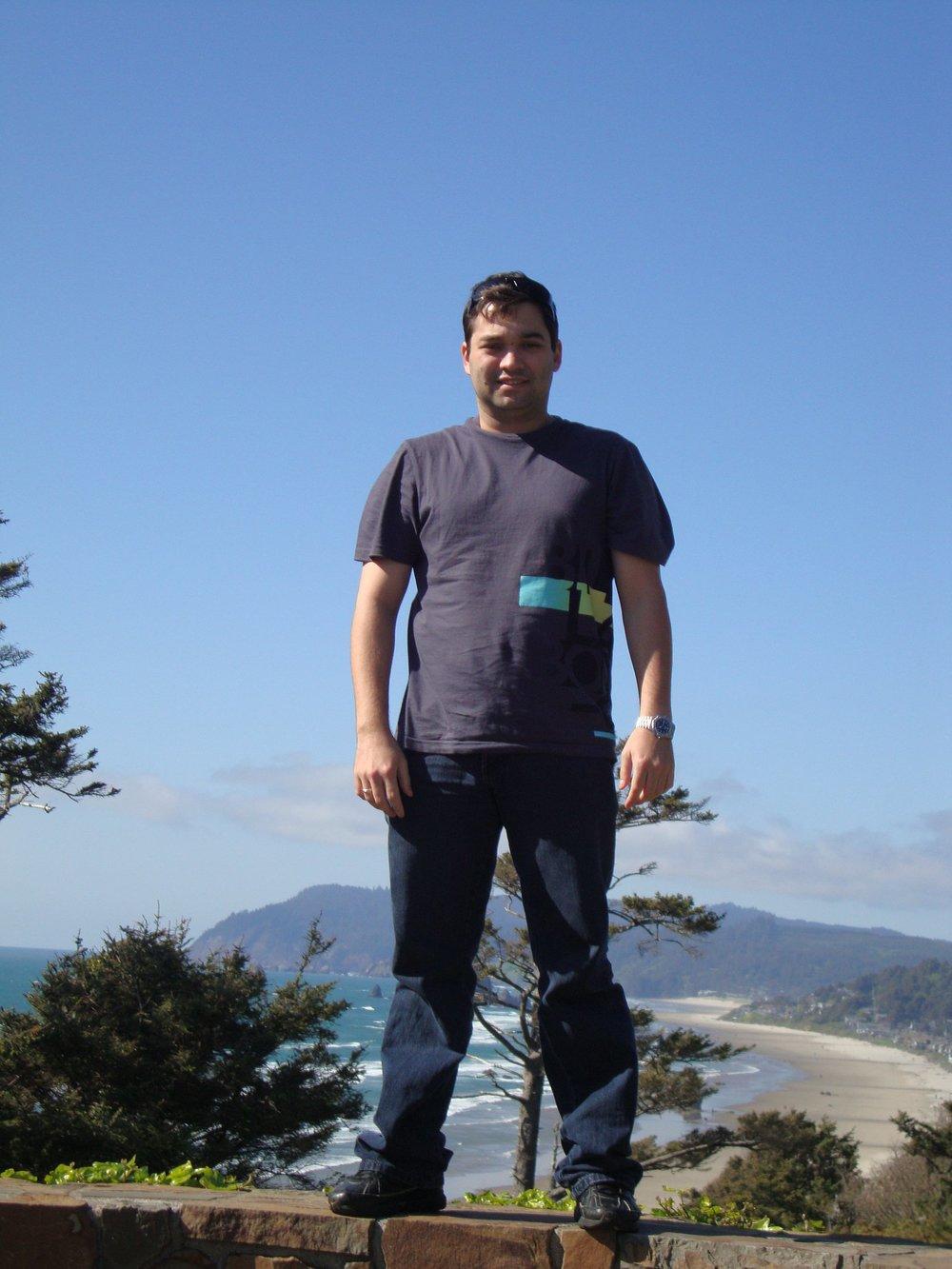 Brazilian student visiting the Oregon Coast.
