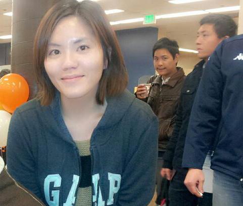 Taiwanese student enjoying a social event.