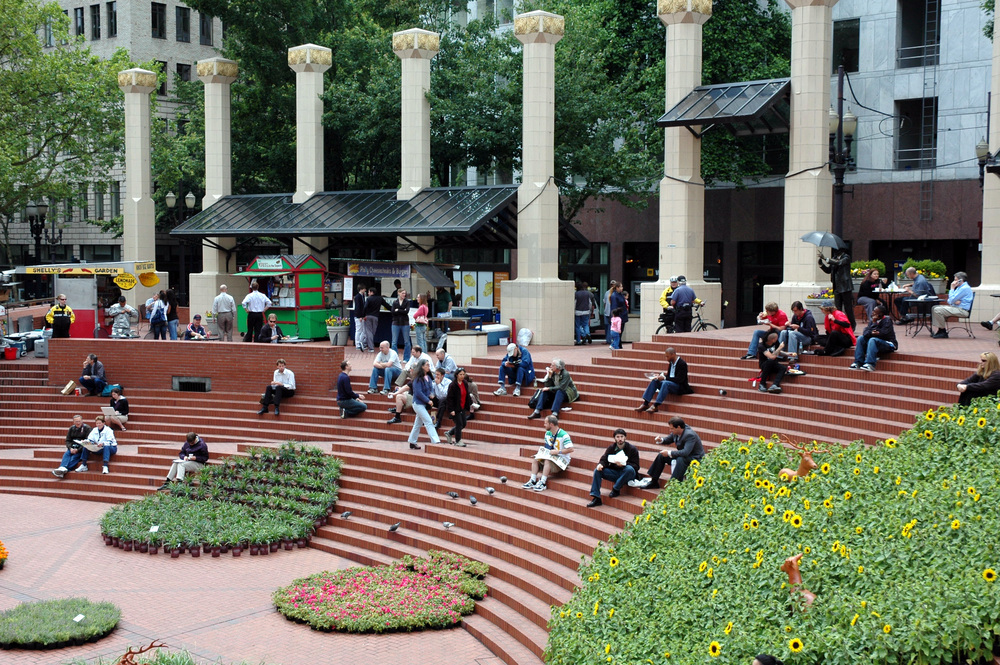 Pioneer Square in downtown Portland.