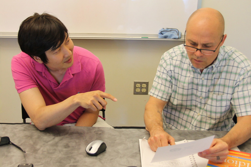 Steve tutoring a student