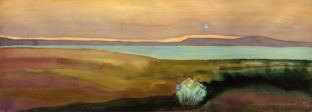 Alvord Desert With Moonrise, painting by Cheryl Renee Long.