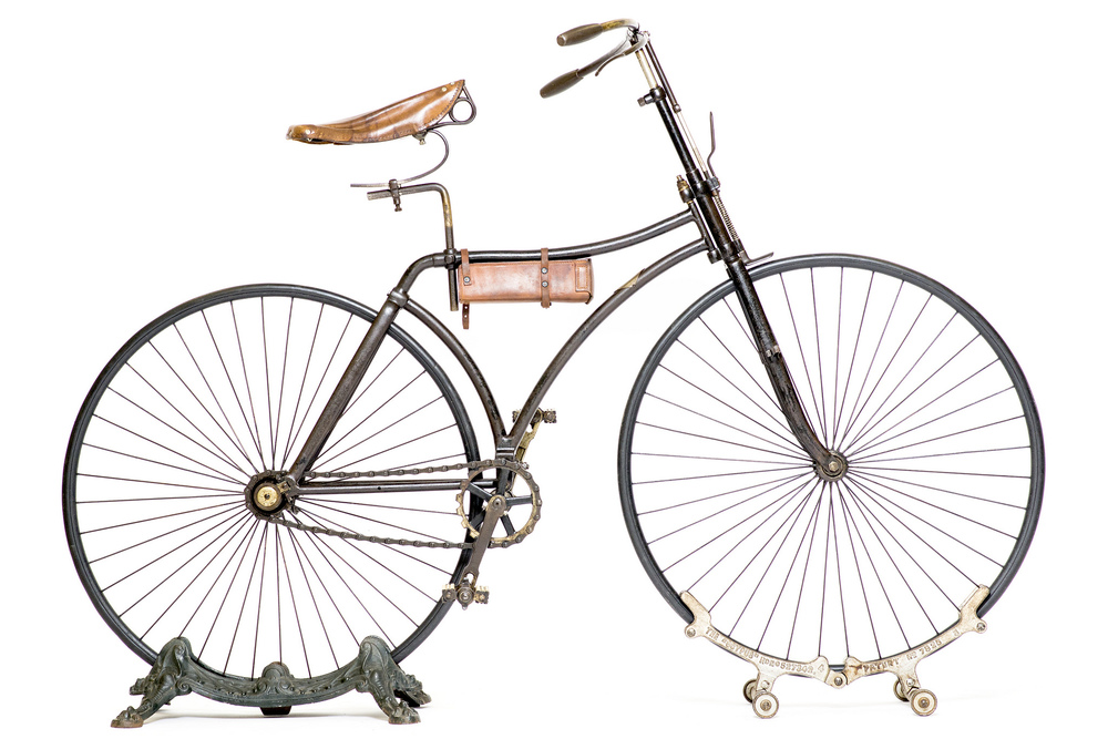 Iver Johnson & Co., Lovell Diamond fixed-gear safety bike, 1893