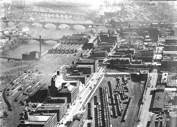 Rail Yards Near St. Anthony Falls