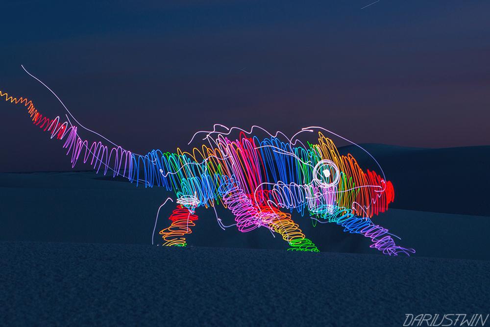 neon chameleon