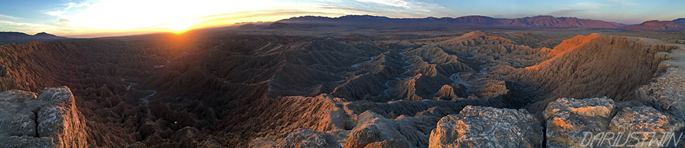 sunrise at fonts point - iphone pano 1