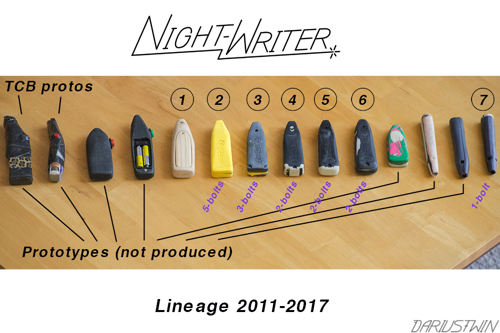 night-writer history lineage prototypes LED lightpainting photography DIY art building create