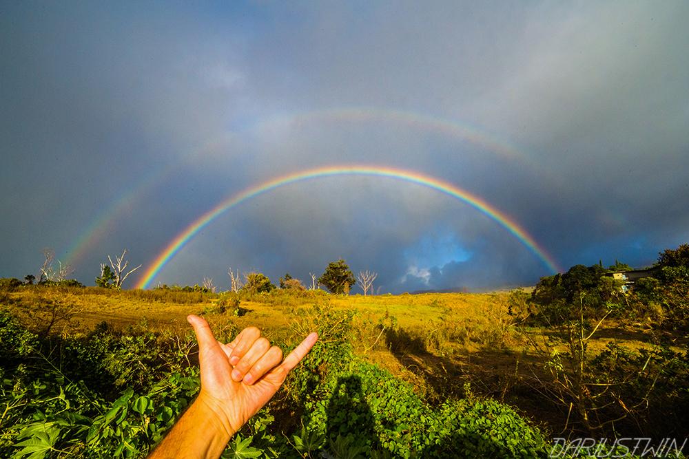 hangloose, maui, rainbow, double rainbow, shaka, hawaii, goodvibes