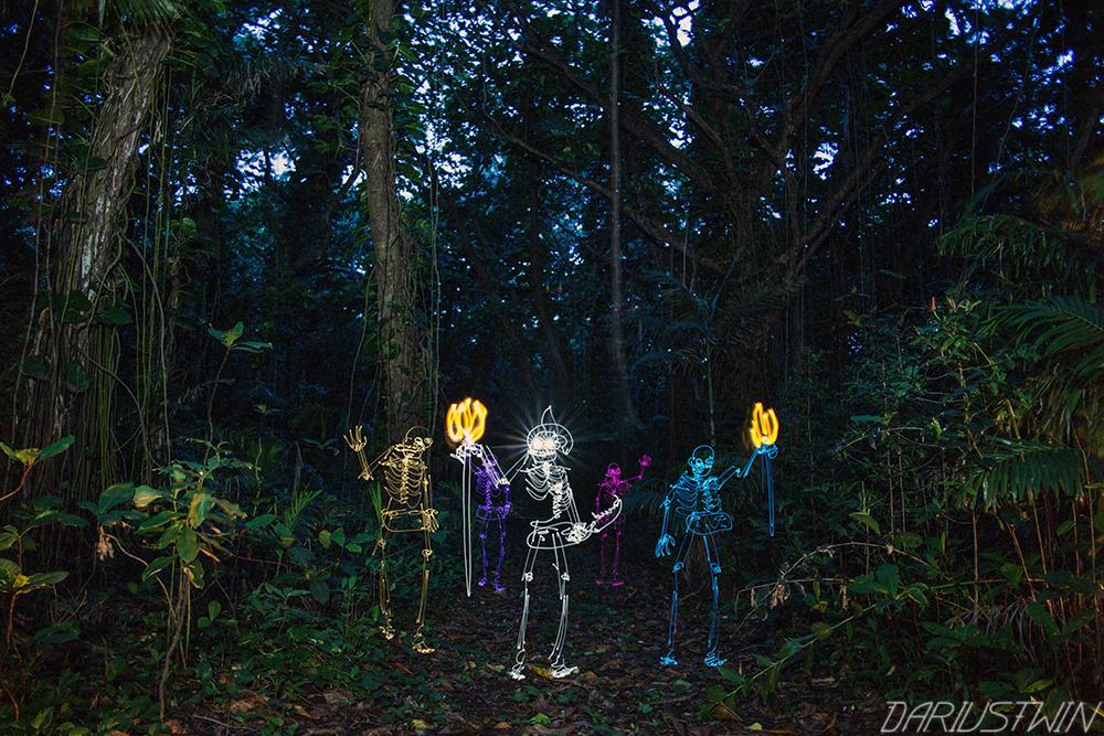 Nightmarchers, maui, ghosts, lightpainting, dariustwin, jungle, warriors