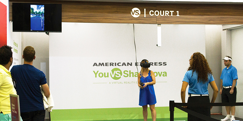 "Fans immersed themselves in a virtual reality match against Maria Sharapova, complete with the audible ""swish"" of racquet strings."
