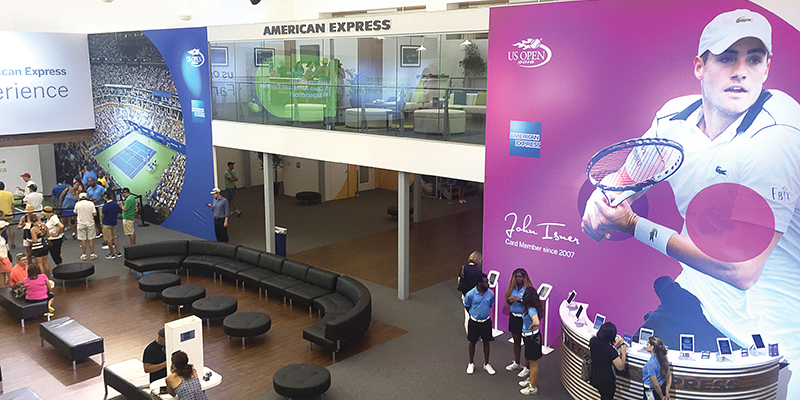 Inside the Fan Experience, attendees could play heated matches against friends, watch live-streaming matches on a Jumbotron screen, meet tennis idols and share epic photo match-ups socially.
