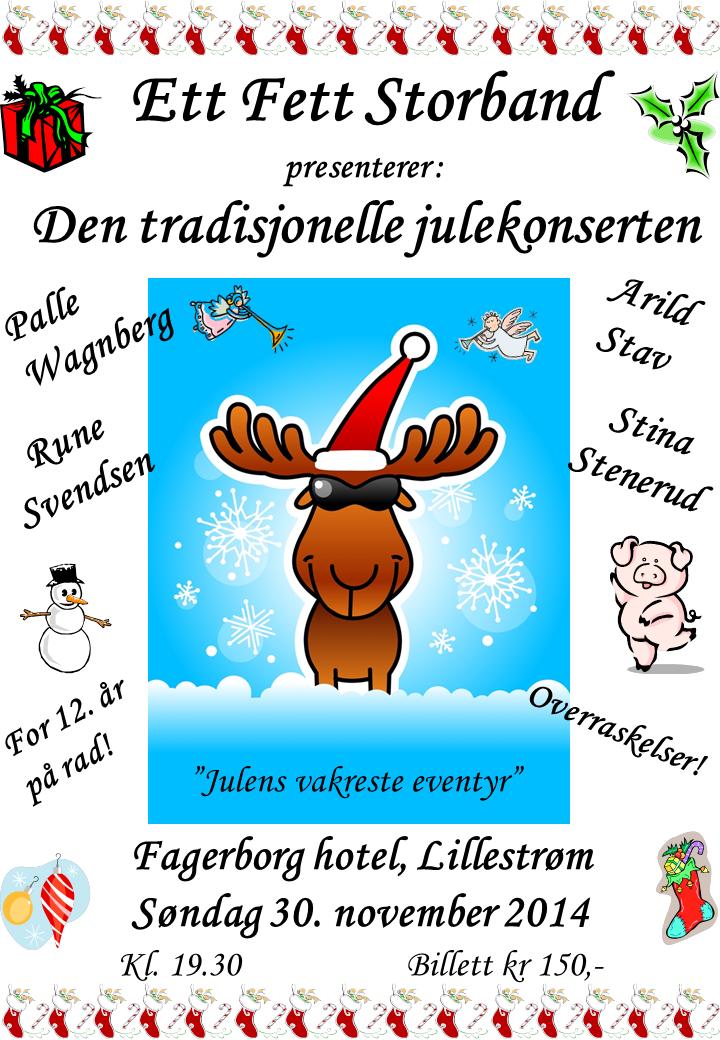 Julekonsert plakat 2014