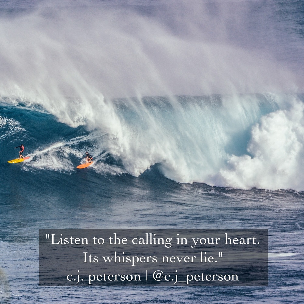 Quote:  C.J. Peterson  Image:  Delfina De La Rua Photography