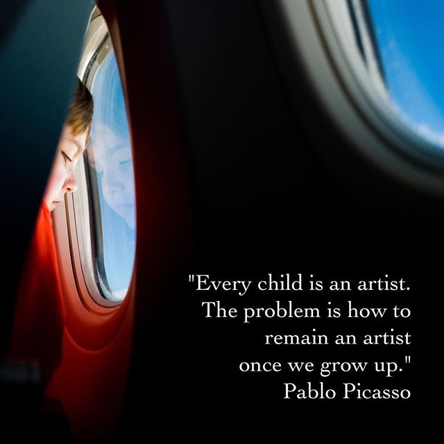 A gentle reminder to never suppress that artistic inner child...that child can save you when least expected.💙 #adoseofsoul Photo cred: Steven Coffey