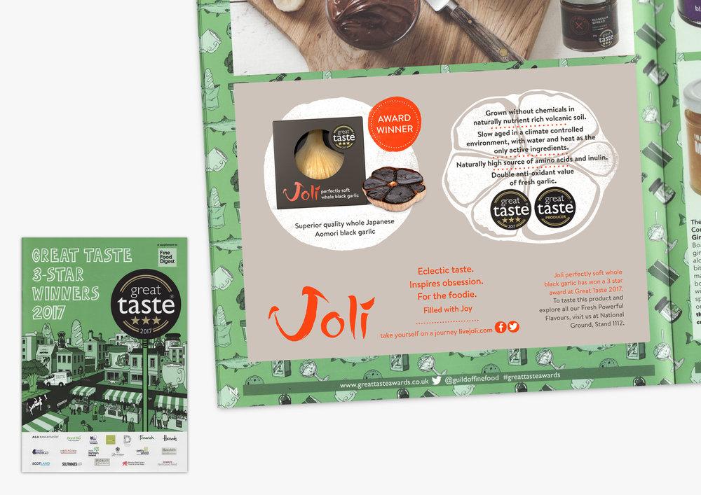 Joli_ThinkingCX_Brand_Core_Proposition_Black_Garlic_Great_Taste_AD.jpg