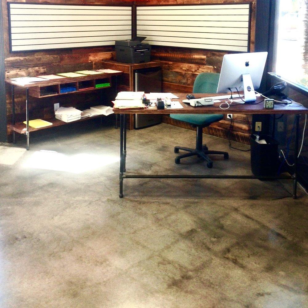 """Wayne Desk Large 60"""" and Wayne Storage Console 72"""""""