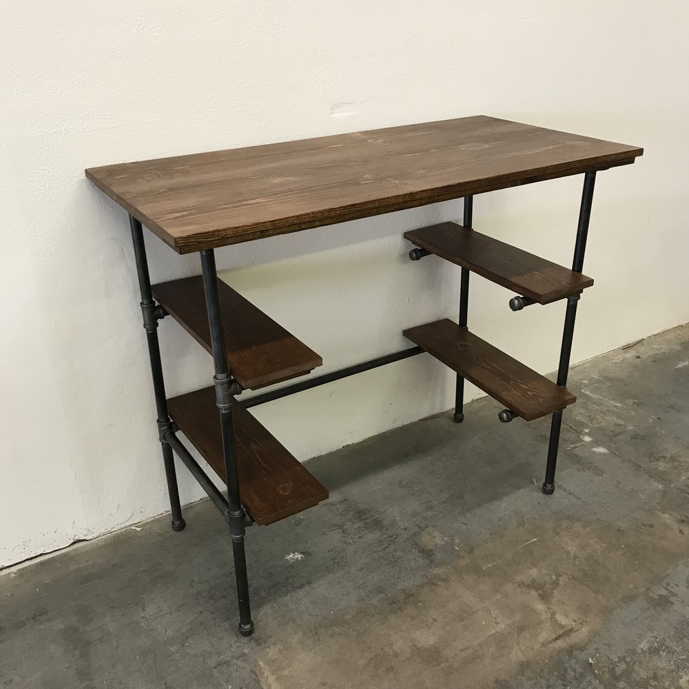 "Ira Standing Desk 48"" with Shelves"