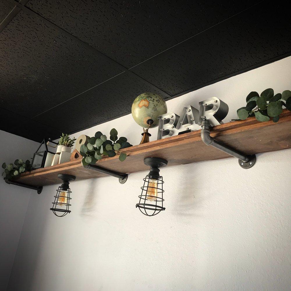Wayne Wall Shelf with Pipe Brackets