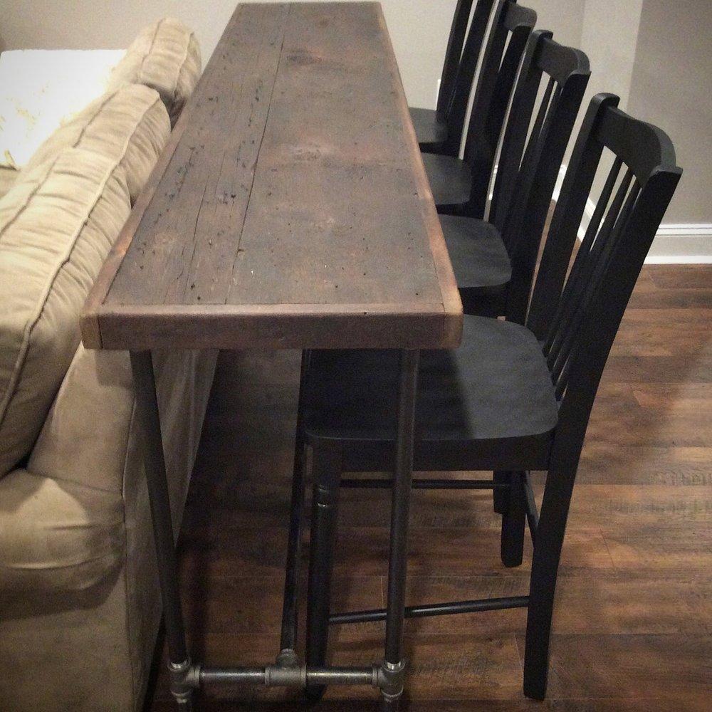 "Albert Bar Table 96"" Reclaimed Wood"