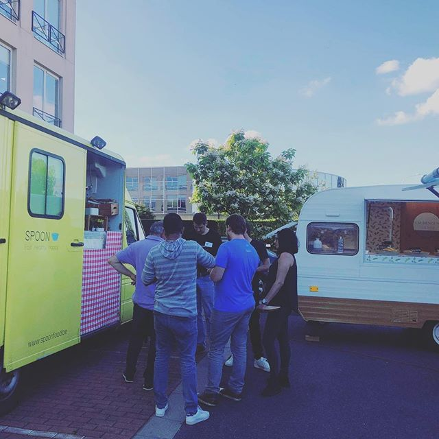 Business party @absi Drogenbos! 👌 #toptrucks #laurencesfocacceria #lizzyintheskywithdiamonds #spoonenco #bestcombo #morethancolleagues