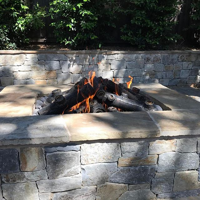 Custom fabricated fire logs for a fire pit we built in Carmel.
