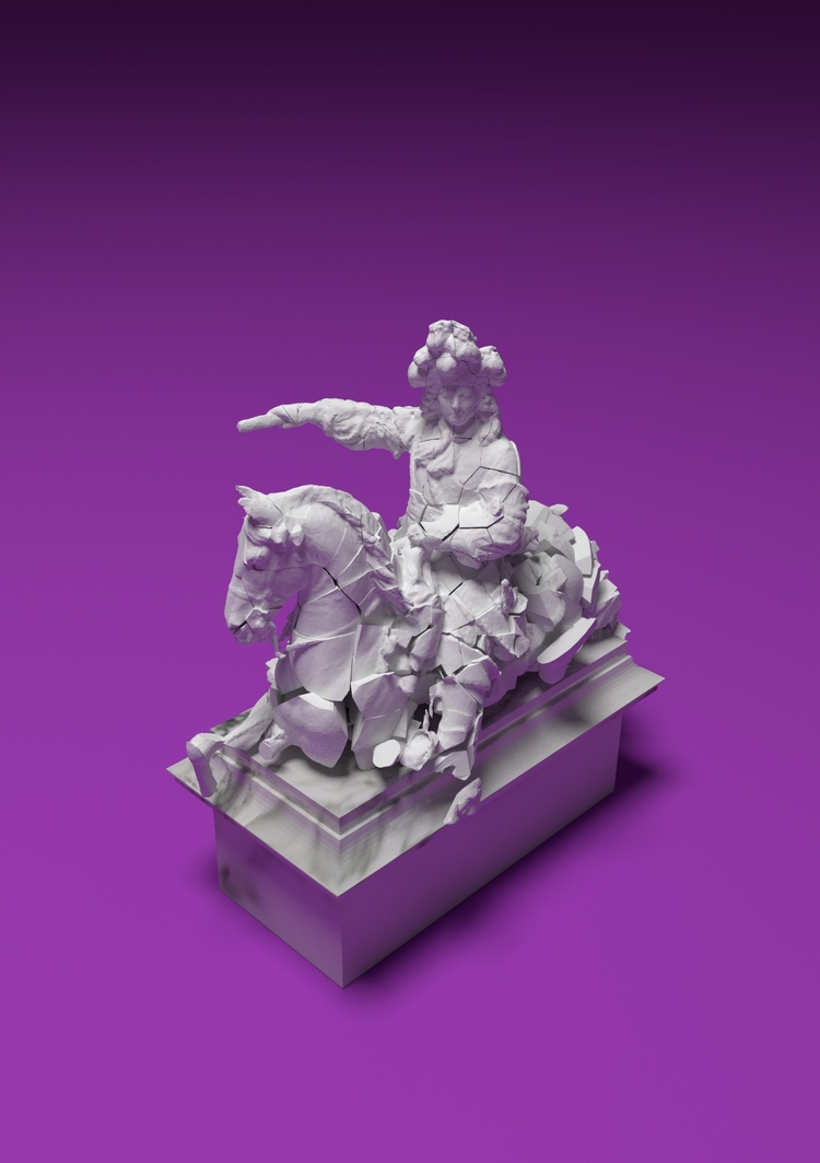 PIERRE CHAUMONT | POWER COMES WITH FEET OF CLAY ( LOUIS XIV)     | IMPRESSION NUMÉRIQUE | 12   X 17 POUCES   | EDITION DE 2  5   | 2016   | 425$