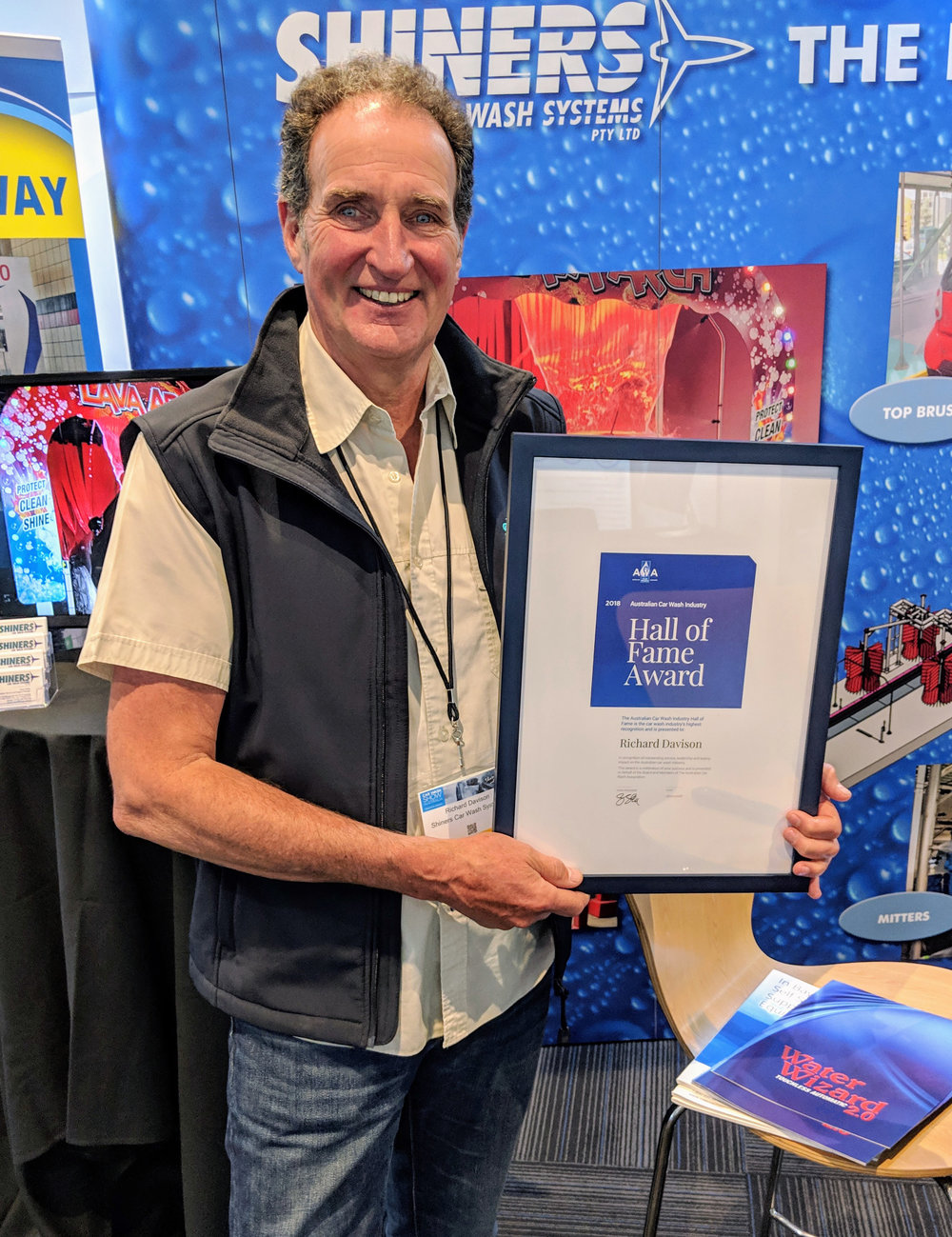 "Richard Davison of Shiners Car Wash Systems received the well deserved Australian Car Wash Industries ""Hall of Fame"" award.  Washlink Systems  is proud to be a member of Shiners Car Wash Systems team."