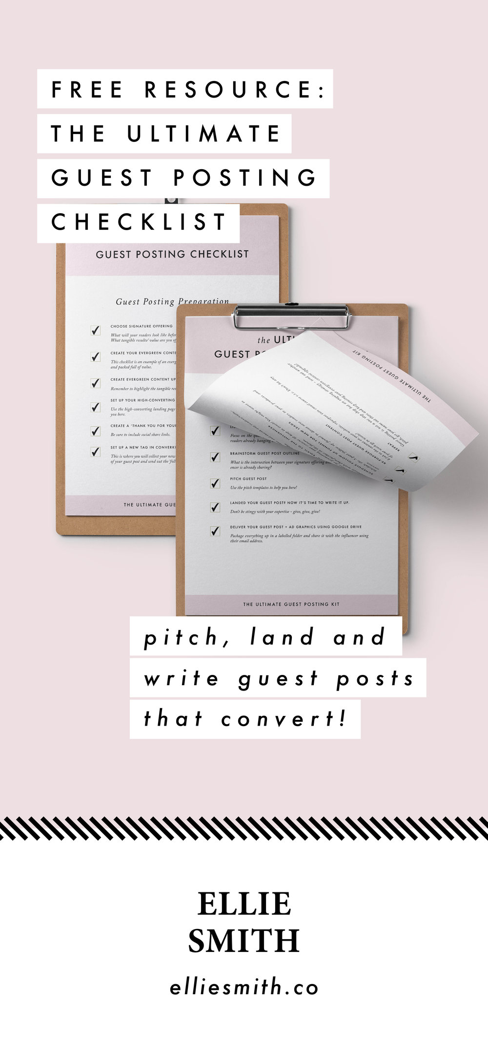 Let's take the guess work out of guest posting. Free checklist!