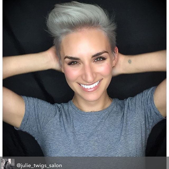 Repost from @julie_twigs_salon using @RepostRegramApp - Had so much fun taking @ladycatherine_ from brunette to a silver platinum! #twigs