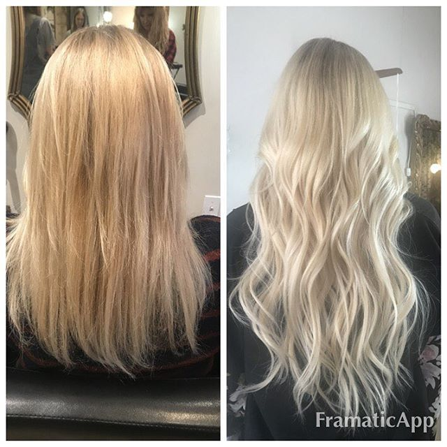 Before& After ShrinkLinks Hair extensions and hair color by @julie_twigs_salon @shrinklinks @extensionsplus @behindthechair_com @hairbrained_official #hairextensions #shrinklinkshairextensions #humanhairextensions #beforeandafter #nychairstylist #nychairextensions #nychairsalon #haircolor #hairpainting #highlights #twigs #twigssalon