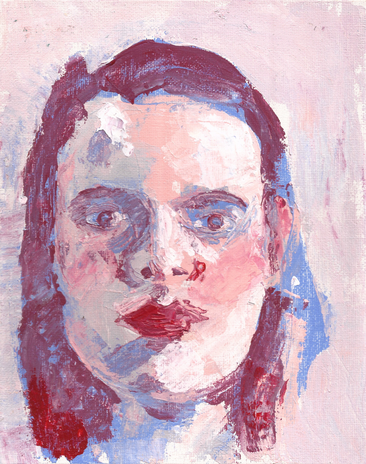 Palette knife self portrait
