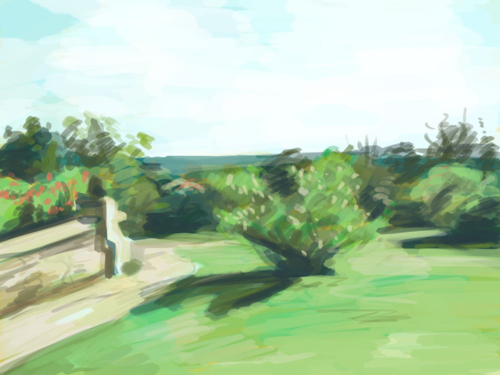 Trying to be a good noodle over the winter break and do many studies to bone up on my skills, so here is a quick landscape.