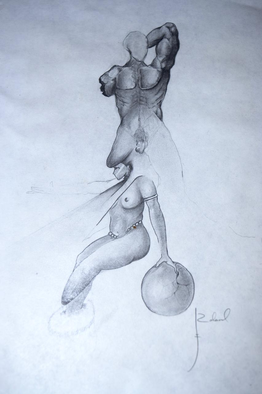 """Asawako 1987""  graphite pencil on paper  8.5X11"""