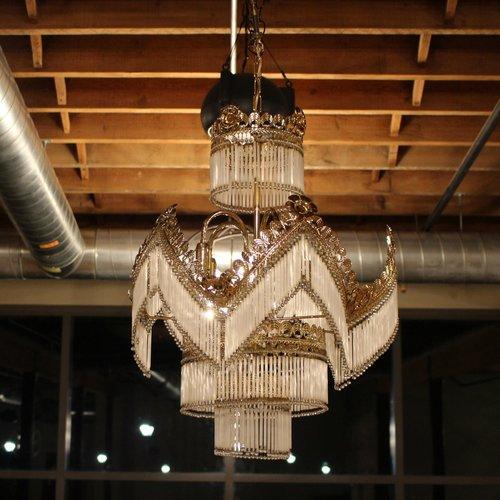 Art deco chandelier bird bee vintage rental co art deco chandelier mozeypictures Choice Image