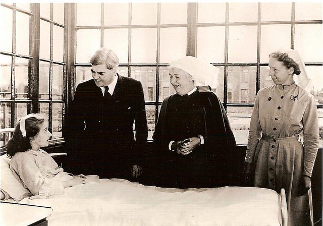 Aneurin Bevan visits Park Hospital, Davyhulme on the inaugural day of the NHS' operation. But what are the Health Service's plans for the future?