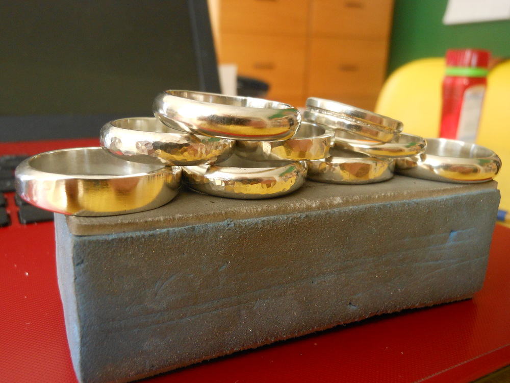 Sterling silver bands made to order $50 and up