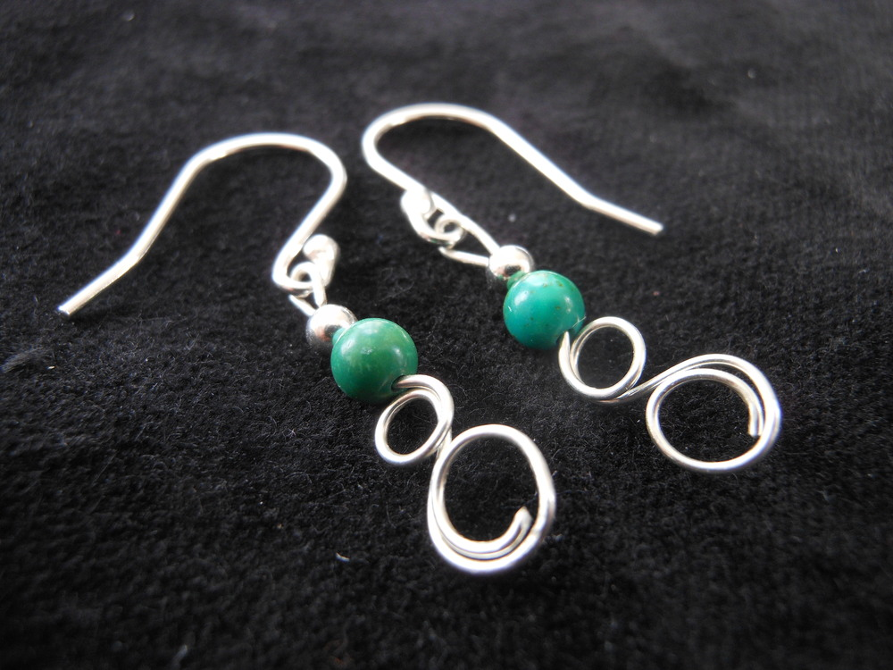 Turquoise ear wires $30