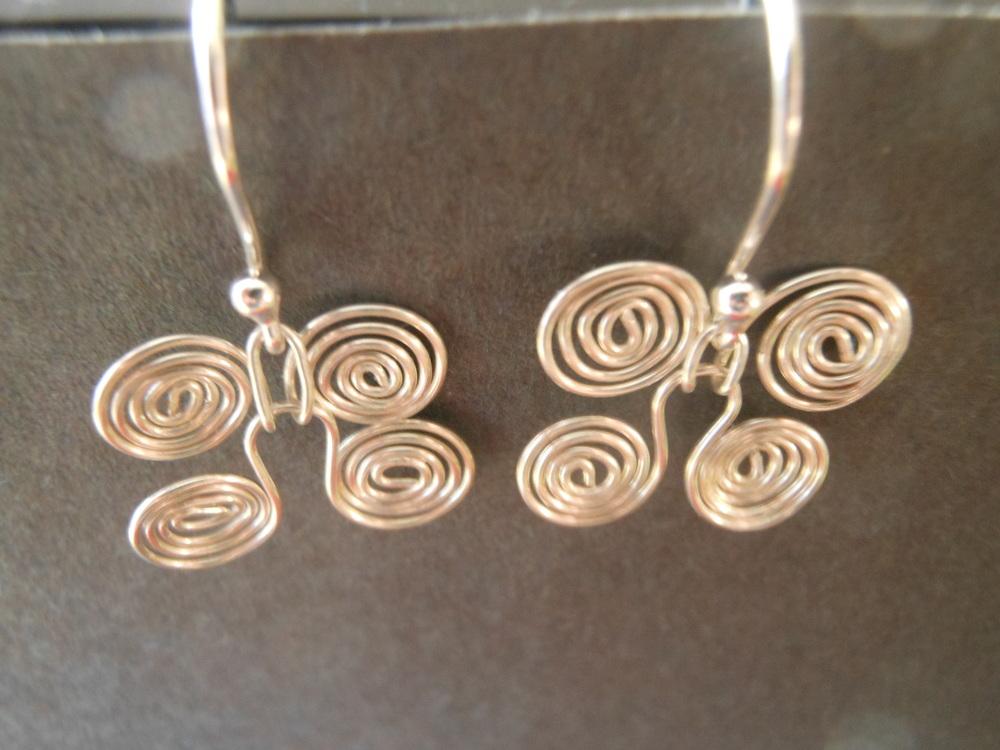 Egyptian earrwires $40 Sterling silver