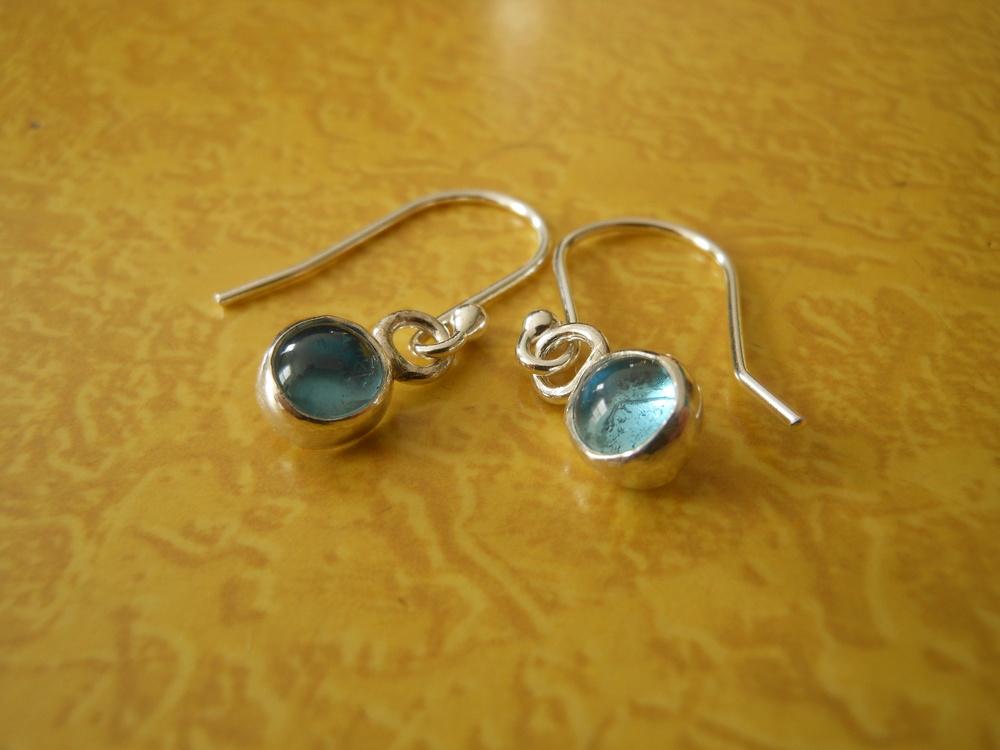 Blue Topaz 6mm earrings $125