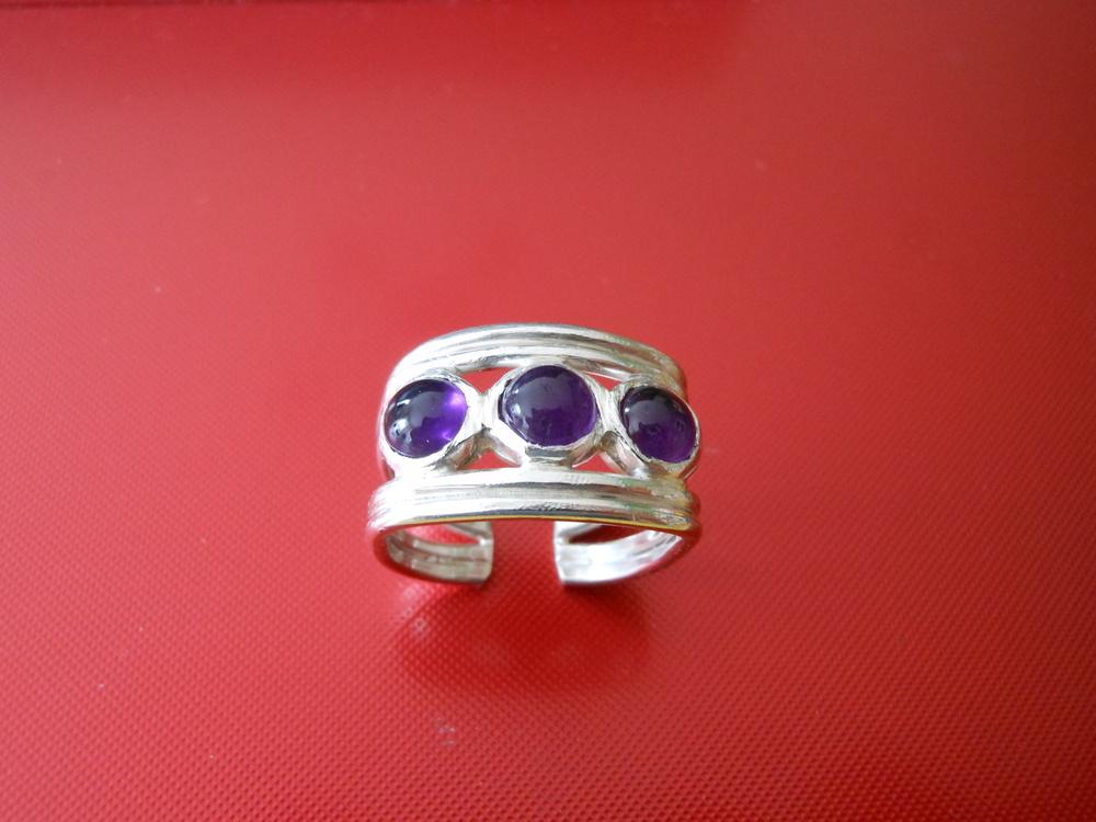 3 Amethyst ring