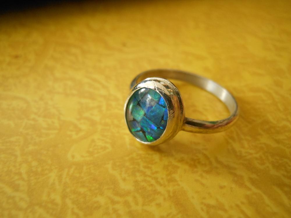 Mosaic Opal Ring $125
