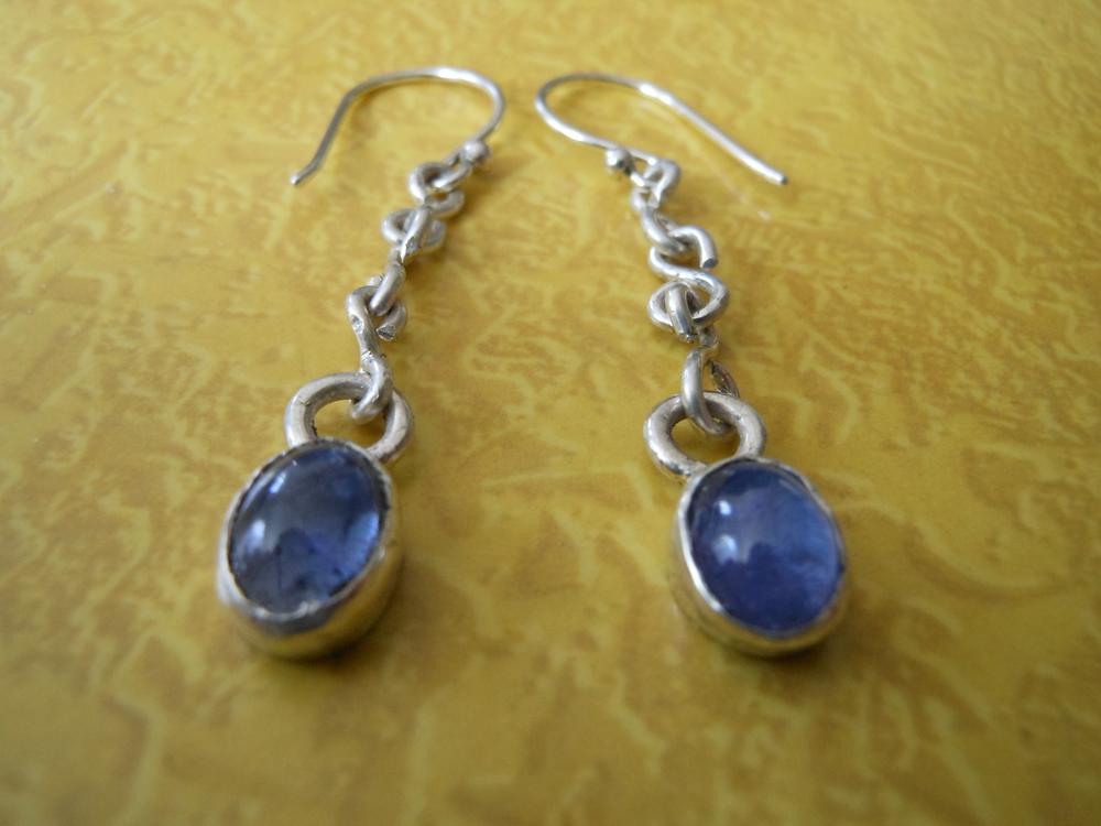 Tanzanite Dangle Sterling Silver Earrings $150