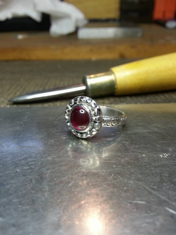 Ruby Cabochon in Sterling Silver $195